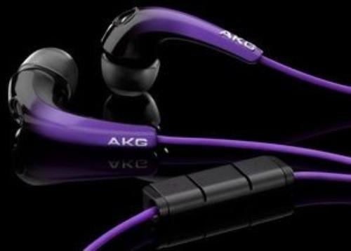 AKG K328 czarno-fiolet Słuchawki z pilotem dokanałowe