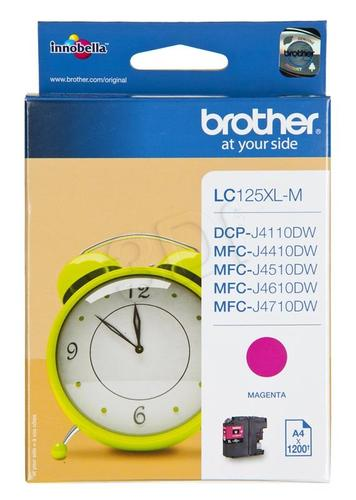 BROTHER Tusz Czerwony LC125XLM=LC-125XLM, 1200 str.