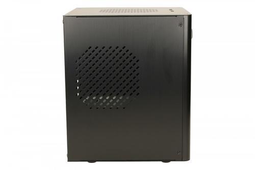 LC-Power OBUDOWA LC-1500Bmi Mini-ITX ALUMINIUM CZARNA 2X USB 3.0 HD AUDIO CUBE OBSŁUGA ZASILACZA W STANDARDZIE ATX