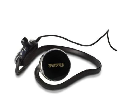 4World Słuchawki Otwarte Kabel 2,2m mikrofon czarne