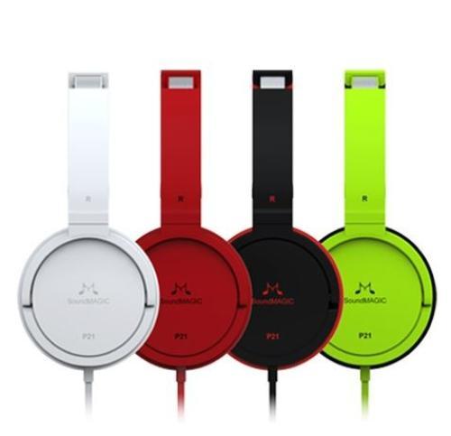SoundMAGIC P21 zielone słuchawki nauszne