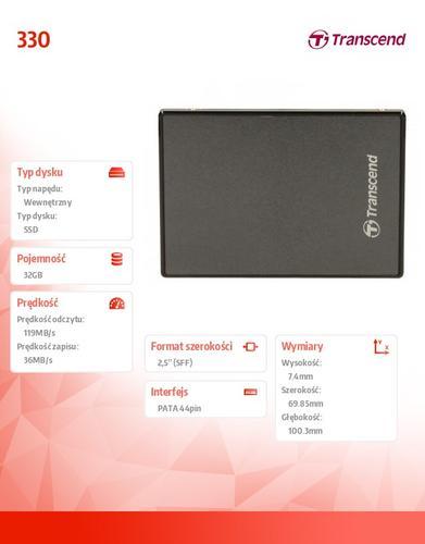 Transcend 330 32GB 2.5' IDE 119/36 MB/s