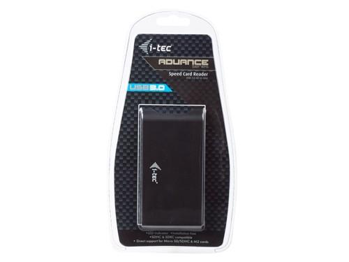 i-Tec Speed Card Reader USB 3.0 All-in-One - Czytnik kart pamięci czarny