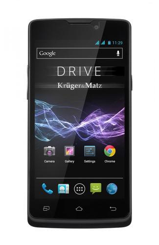 Kruger & Matz Smartfon DRIVE 2 black - dwie baterie w zestawie 4000 mAh oraz 2000 mAh