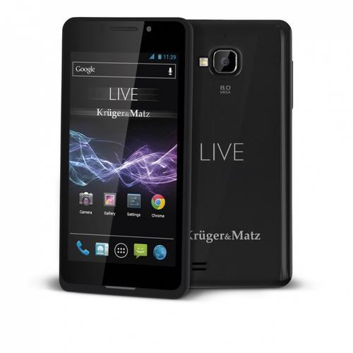 Kruger & Matz Smartfon LIVE CZARNY DUAL SIM CORTEX A5 , ANDROID 4.1 JELLY BEAN