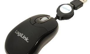 LogiLink Mini myszka USB z rozwijanym kablem