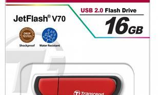 Transcend JETFLASH V70 16GB USB2.0 RED SHOCK/WATER PROOF