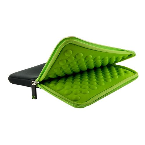 4World Piankowe Wertykalne Etui | tablet | 270x220x20mm | 10.1'' | czarno-zielone
