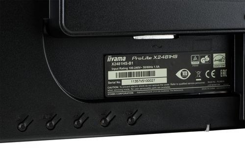 iiyama 24'' X2481HS-B1 SLIM AMVA+, HDMI, DVI, 6 ms, Głośniki