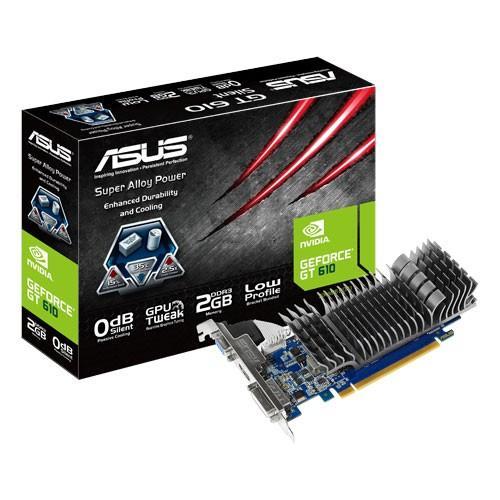 Asus GeForce CUDA GT610 2GB DDR3 PCI-E 64BIT DVI/HDMI/D-SUB BOX