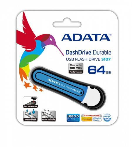 A-Data DashDrive Durable S107 64GB USB3.0 Blue