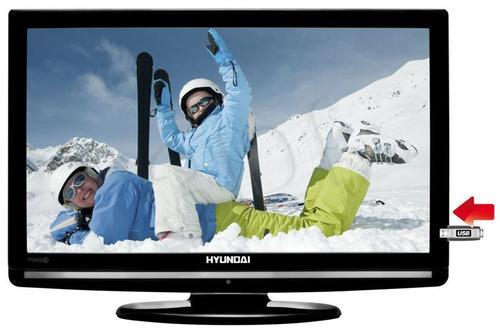 HYUNDAI HLH26840MP4 ( tuner MPEG4; tryb hotelowy; USB z możliwością czytania XviD; MKV; AVI; MPEG )