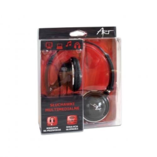 ART Słuchawki AP-56 z mikrofonem multimedialne