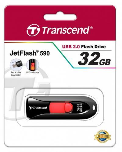 Transcend JETFLASH 590 32GB USB2 BLACK
