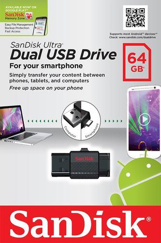 SanDisk Ultra Dual USB Drive 64 GB