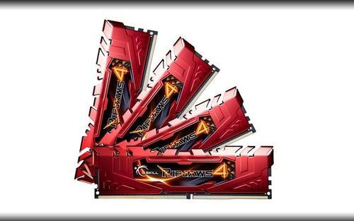 G.SKILL DDR4 16GB (4x4GB) Ripjaws4 2666MHz CL15 XMP2 Red