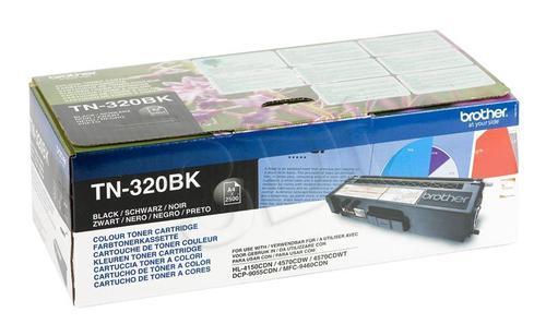 BROTHER Toner Czarny TN320BK=TN-320Bk, 2500 str.