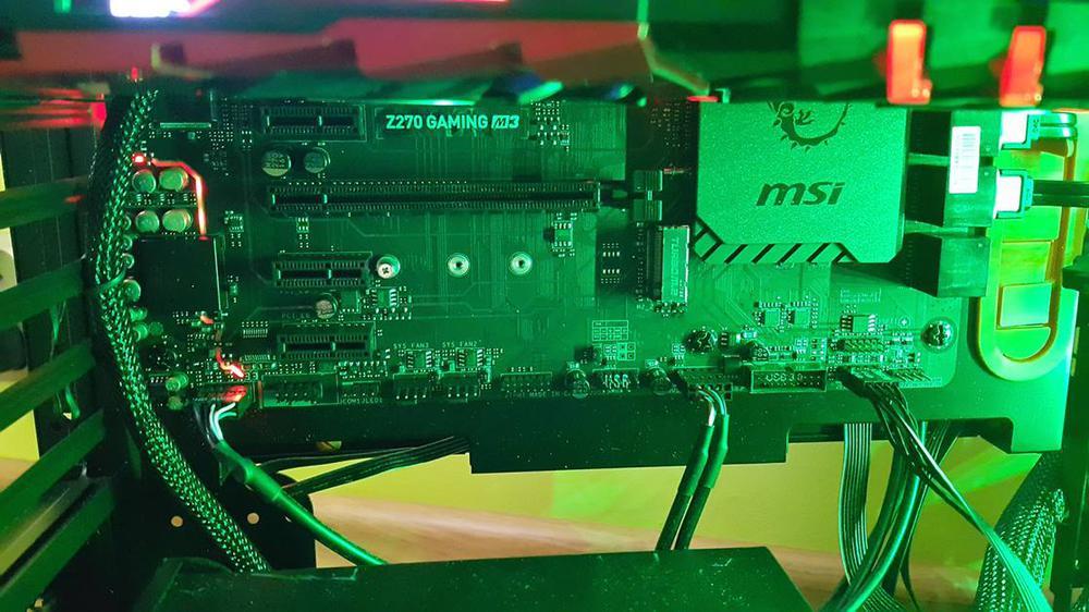 MSI Z270 Gaming M3 w obudowie