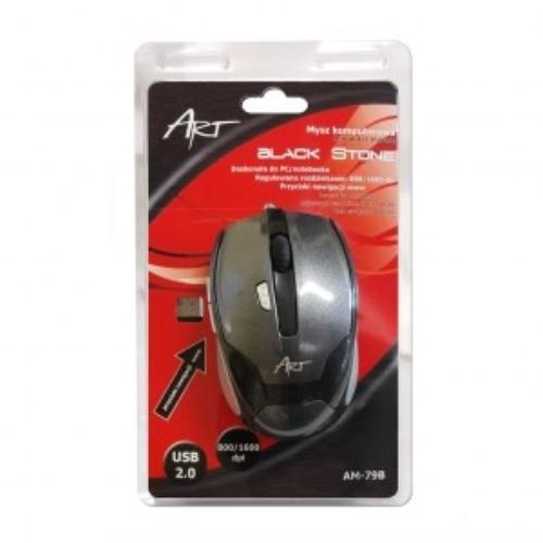 ART Mysz AM-79B Black Stone AM-79B USB