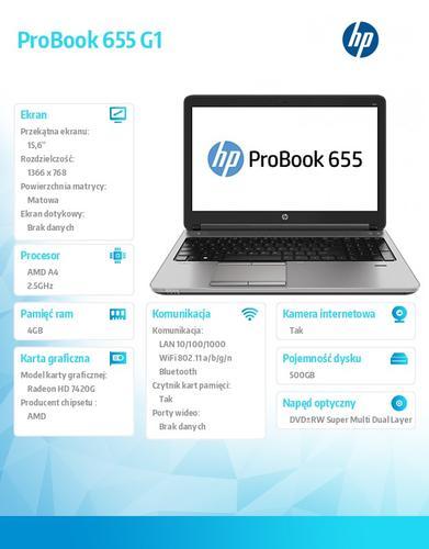 HP 655 G1 A4-4300 W7/8P 500/4G/DVRW/15,6 H5G82EA
