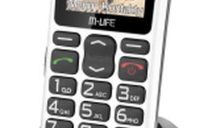 M-Life biały kolorowy wyświetlacz (ML0639b)