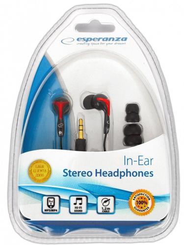 ESPERANZA Słuchawki EH123 X-BASS Kanałowe MP3/MP4/SMARTPHONE STEREO