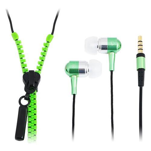 LogiLink Słuchawki z mikrofonem, stereo, 'Zipper' zielone