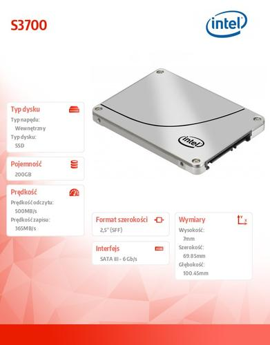 Intel S3700 200GB SATA3 2,5' 500/365 MB/s