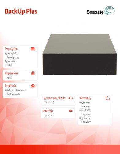 Seagate STDT2000200 2TB 3,5''USB3.0 Backup Black
