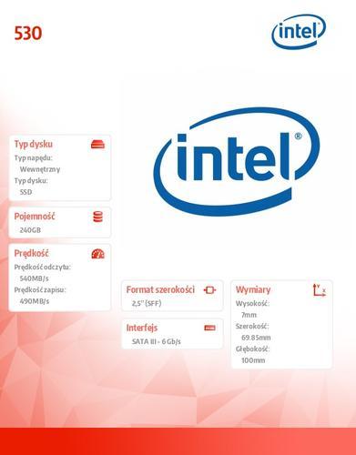 Intel 530 240GB SATA3 540/490M B/s 7mm Reseller Pack