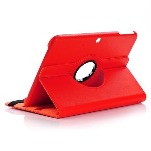 """WEL.COM Etui obrotowe Samsung Galaxy Tab 4 10.1"""" czerwone"""