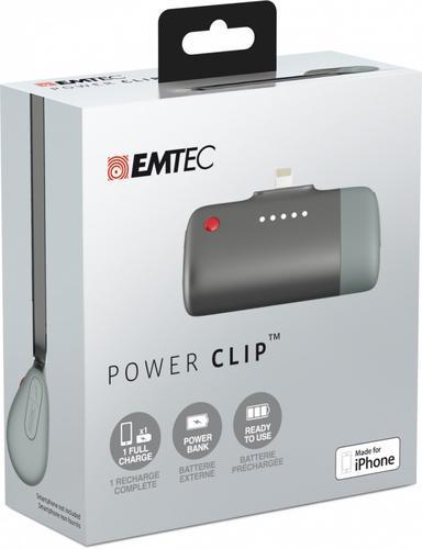 EMTEC Power Clip Bank iPhone 5/6 2600mAh