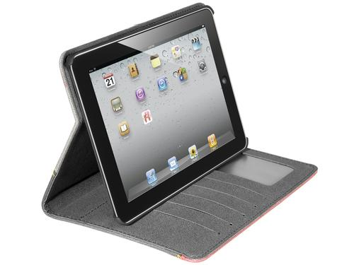 Tracer Etui na iPada 2/3/4 Tricolore Crimson