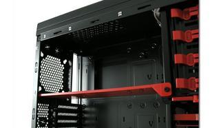 """LC-Power OBUDOWA CASE-PRO-973B """"FORTRESS X"""" MIDITOWER FRONT 2X USB 3.0 1X USB 2.0 HD-AUDIO BEZNARZEDIOWA HDD STACJA DOKUJACA CZARNA SIATKA"""