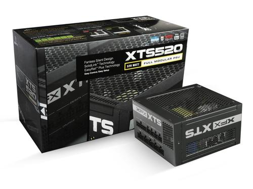 XFX XTS 520W Fanless Full Modular (80+ Platinum, Single Rail)