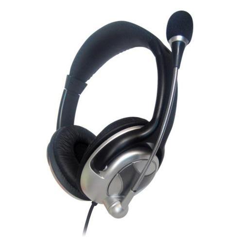 GEMBIRD Słuchawki z mikrofonem MHS-401 Srebrno-Czarne