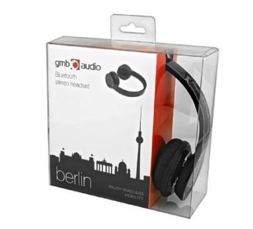 GEMBIRD Słuchawki z mikrofonem bezprzewodowe BHP-BER-BK (Bluetooth)