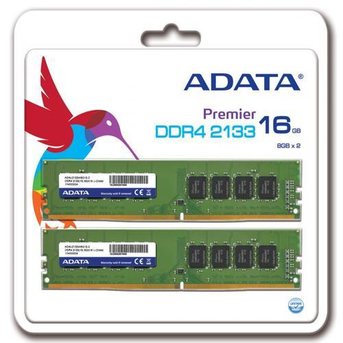 A-Data Premier DDR4 2133 DIMM 16GB Kit (2x8GB) CL15