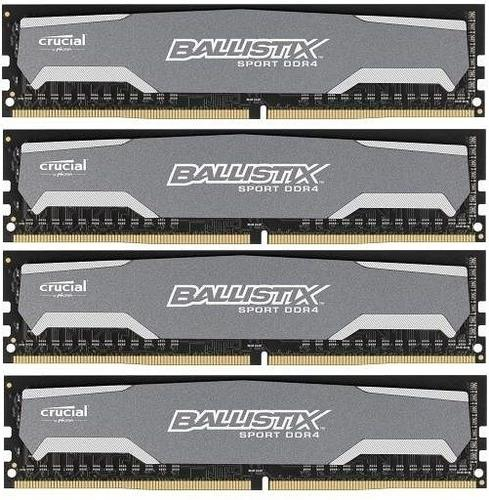 Crucial DDR4 Ballistix Sport 16GB/2400(4*4GB) CL16-16-16-16 SRx8