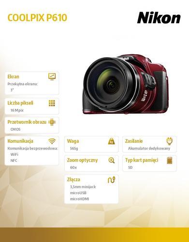 Nikon P610 red
