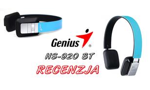 Genius HS 920 BT - Recenzja słuchawek Bluetooth w super cenie!