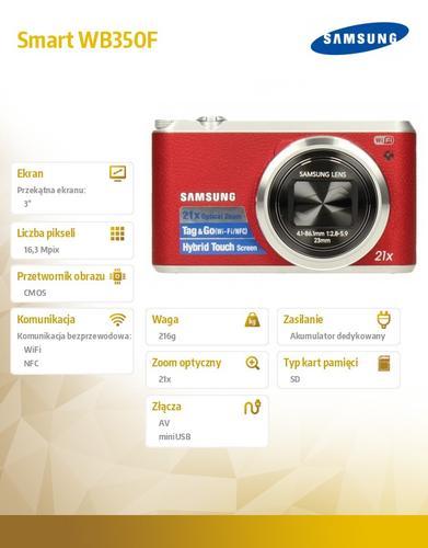 Samsung Smart WB350F red