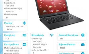 Packard Bell ENTG71BM 15.6M/N2840 320GB/4GB/IntHD/WIN 8.1