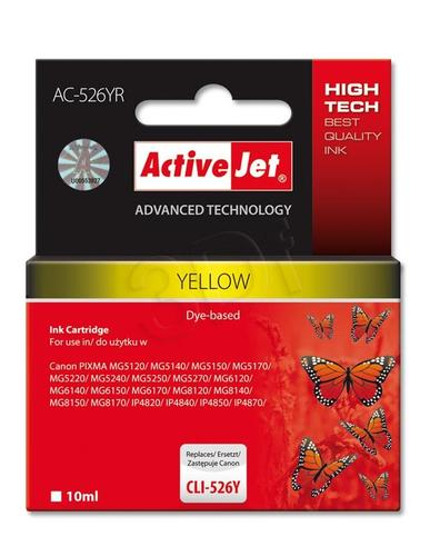 ActiveJet AC-526YR tusz żółty do drukarki Canon (zamiennik Canon CLI-526Y) Premium/ chip
