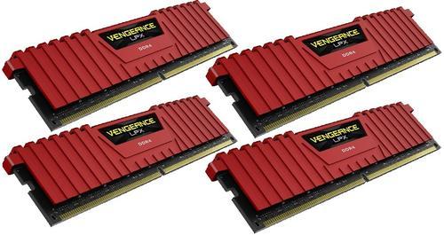 Corsair DDR4 Vengeance LPX 16GB /2666 (4*4GB) RED CL15-17-17-35