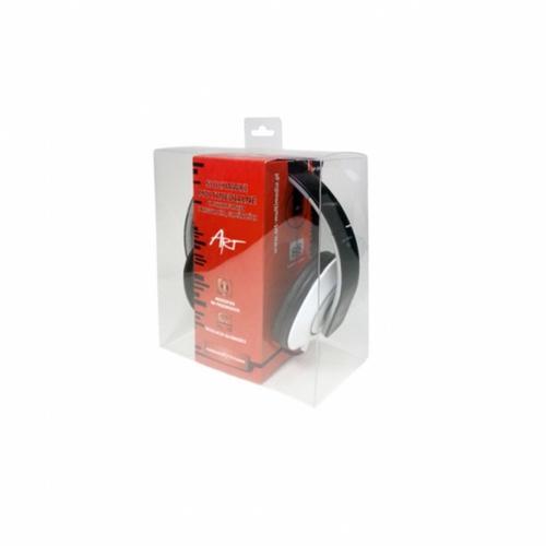 ART Słuchawki AP-59A z mikrofonem multimedialne czarne