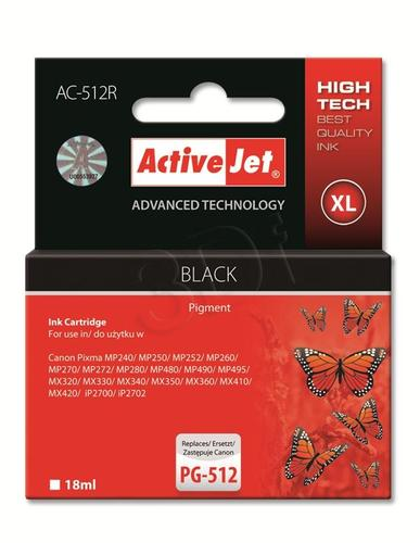 ActiveJet AC-512R tusz czarny do drukarki Canon (zamiennik Canon PG-512) Premium
