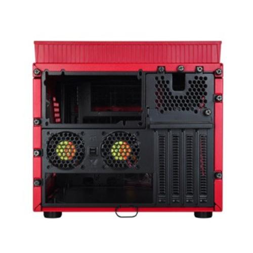 Thermaltake Armor A30i Cube USB 3.0 Window (2x60mm 90mm 200mm, LED), czerwony
