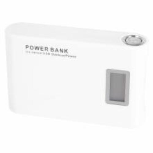 Global Technology POWER BANK LCD 12000 mAh BIALY