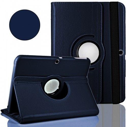 WEL.COM Etui obrotowe 360° Galaxy Tab 3 10 P5200/P5210 granatowe